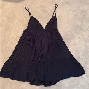 TOBI navy spaghetti strap dress
